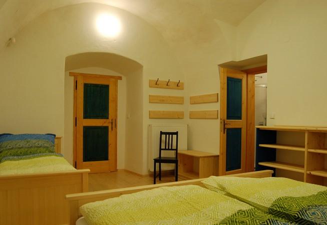 Modrý pokoj pod klenbami - penzion Čáslava